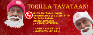 KyPa Karhulan torilla sunnuntaina 9.12. klo 9-15